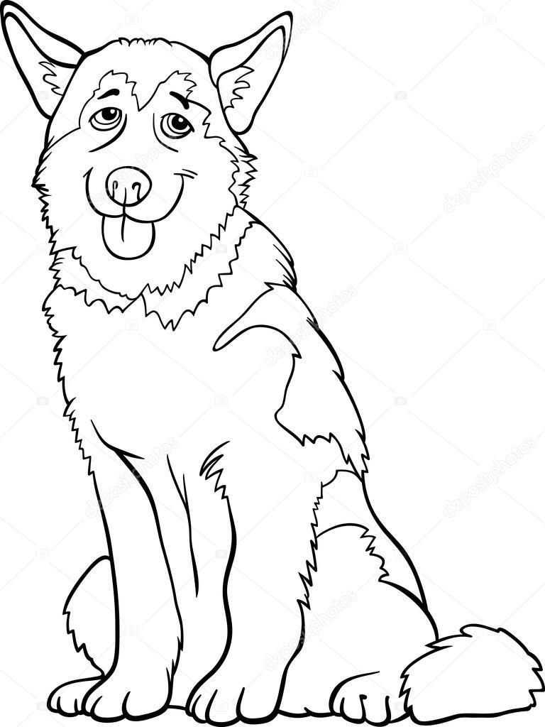 Картинки хаски раскраски | Картинка собака раскраска ...