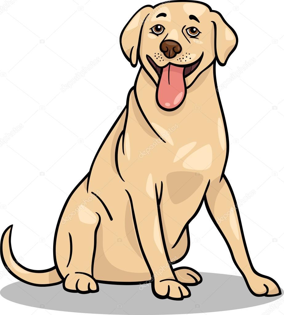 Imágenes Dibujo De Perro Labrador Ilustración De Dibujos