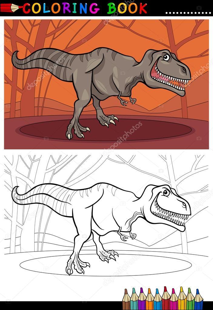 Tyrannosaurus Rex Dinozor Boyama Stok Vektör Izakowski 19390037