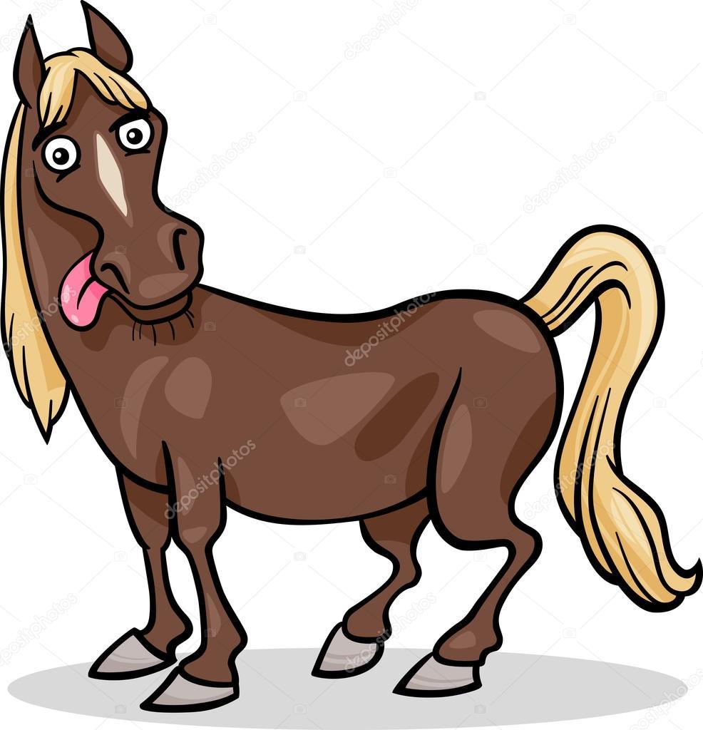 Illustrazione di cavallo fattoria degli animali dei