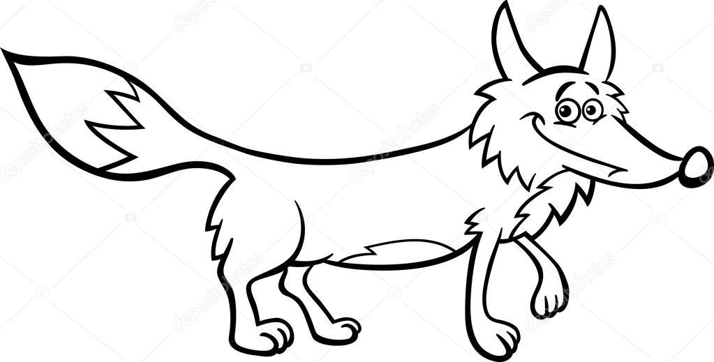 Fox Karikatür çizim Boyama Stok Vektör Izakowski 20640699