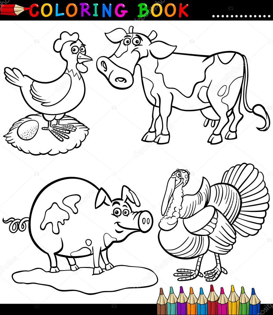 cartoon barnyard coloring pages - photo#13