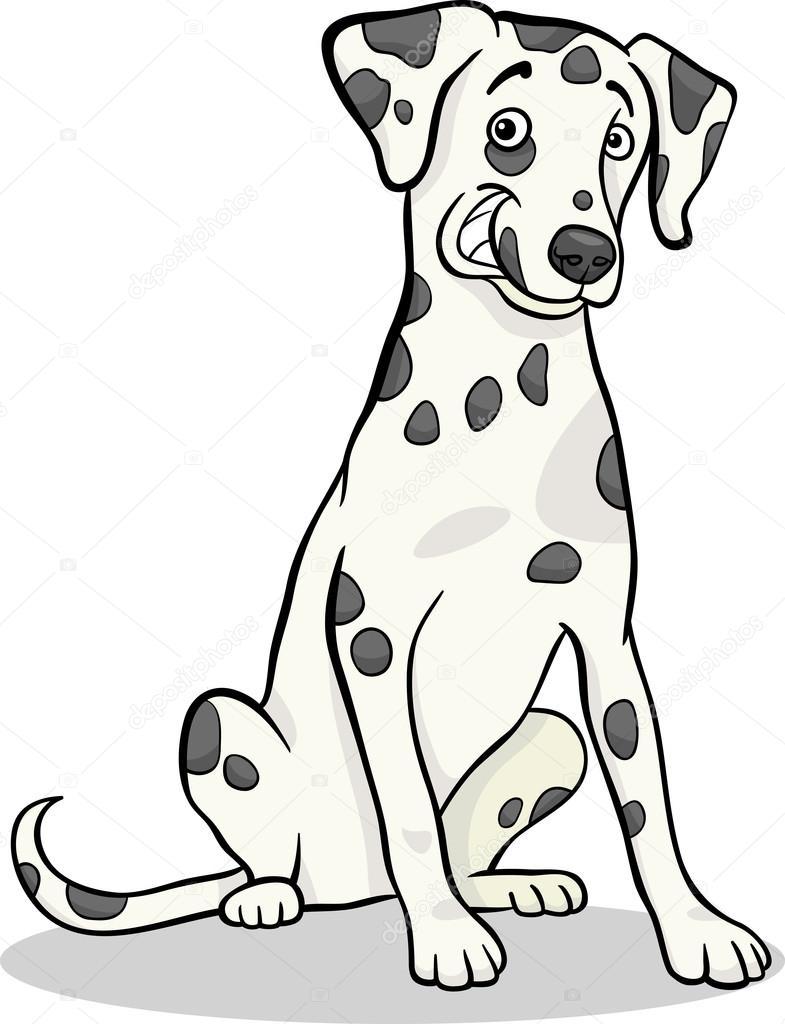 Dalmaçyalı Safkan Köpek Karikatür çizimi Stok Vektör Izakowski