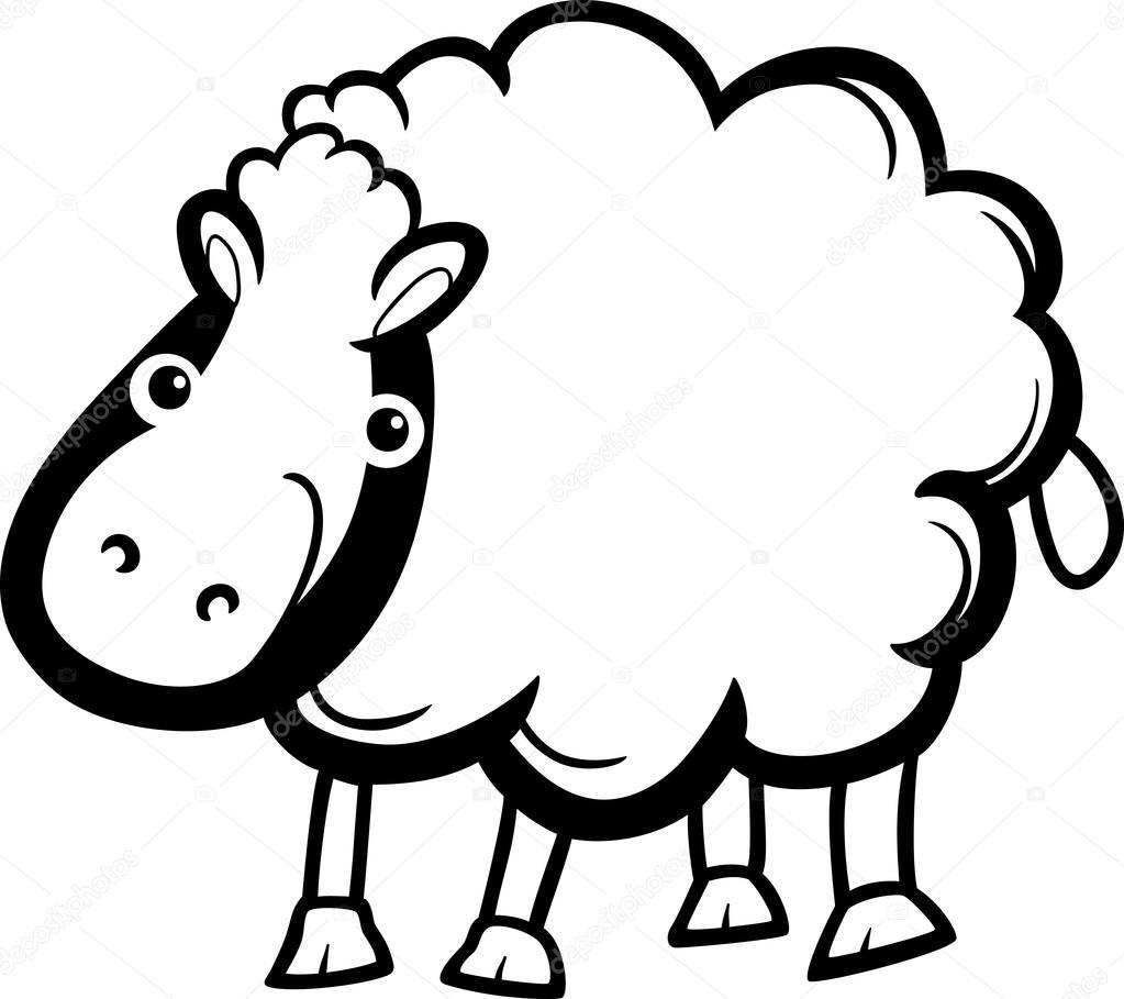 las ovejas de la granja animales de dibujos animados para colorear ...
