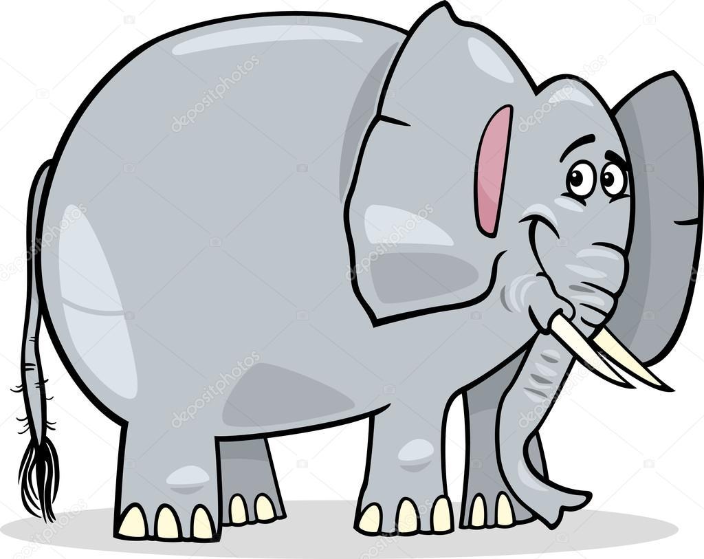 cute african elephant cartoon illustration u2014 stock vector