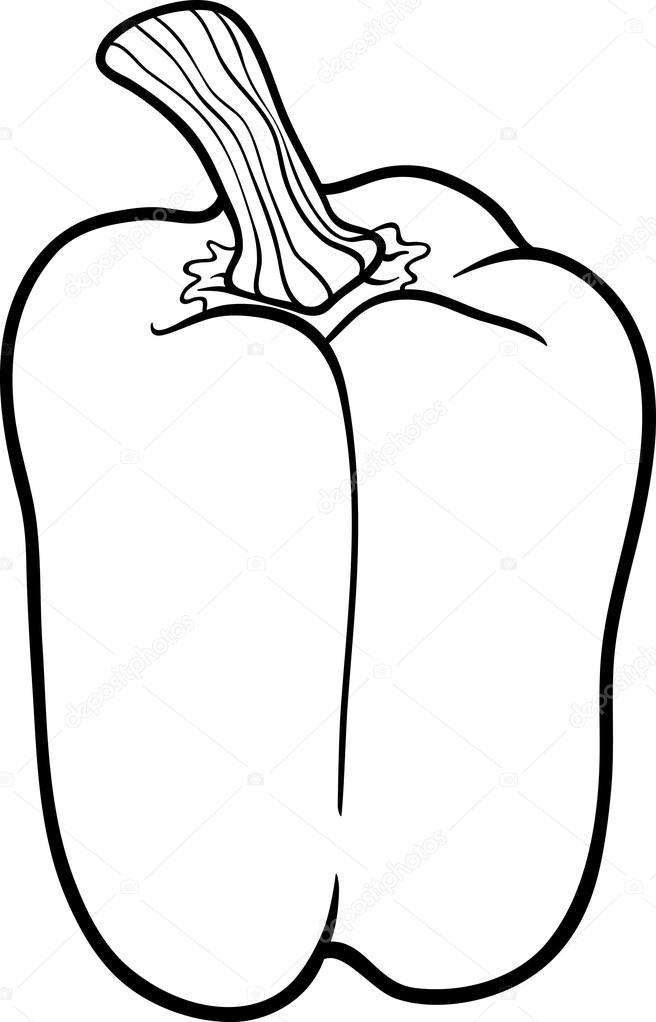 Coloriage Paprika Dessin Anime.Poivre Legume Cartoon Pour Cahier De Coloriage Image Vectorielle