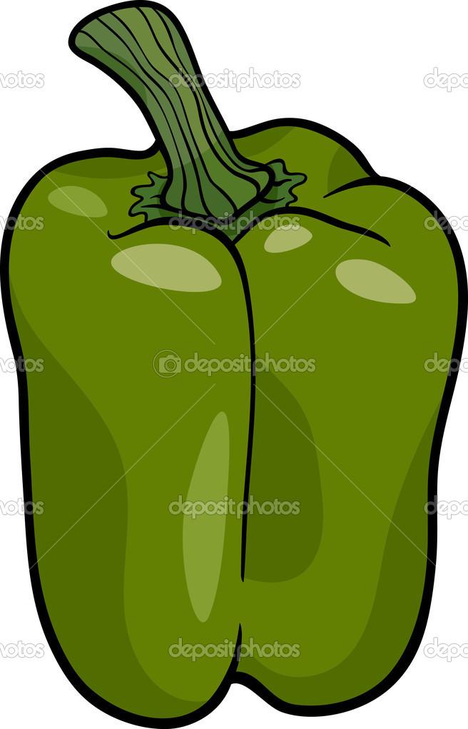 Coloriage Paprika Dessin Anime.Illustration De Dessin Anime Legumes Poivron Vert Image