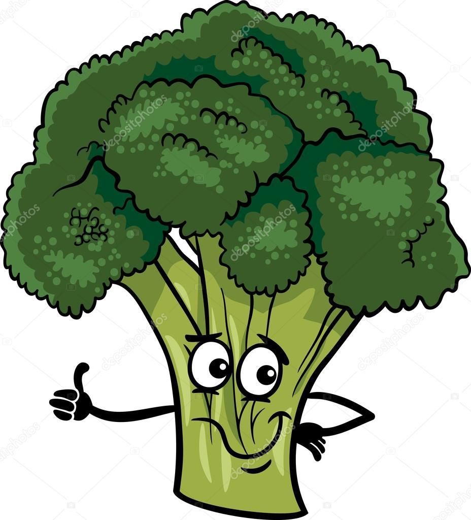 ilustração de vegetais dos desenhos animados engraçados de brócolis