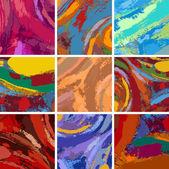 abstraktní malba pozadí sady návrhů
