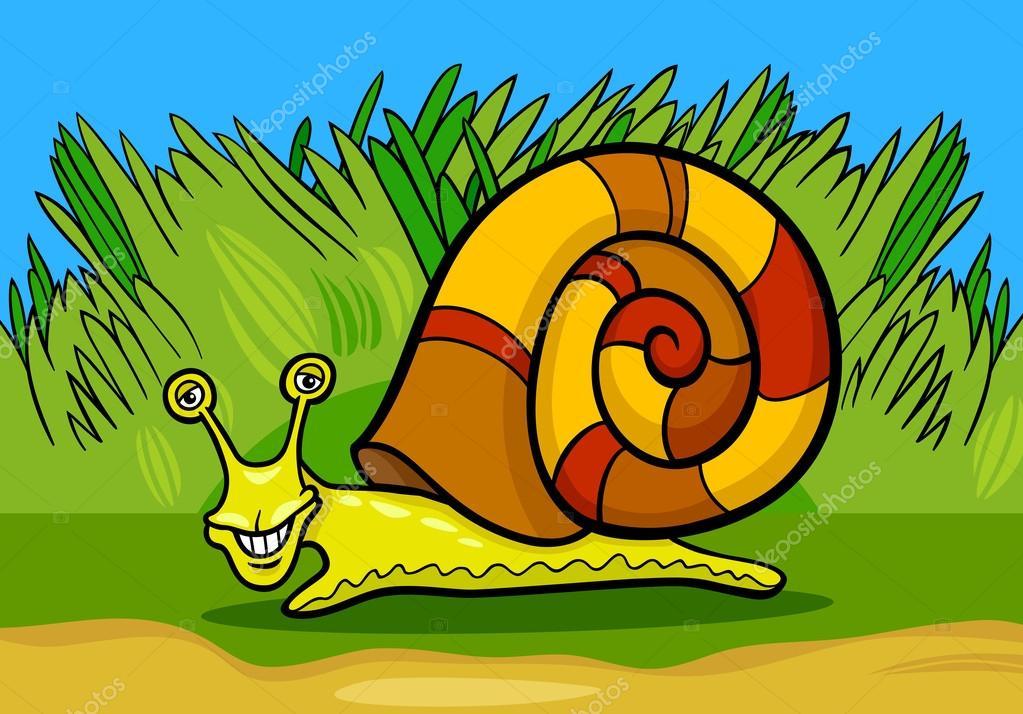 Illustrazione di cartone animato molluschi lumaca u vettoriali