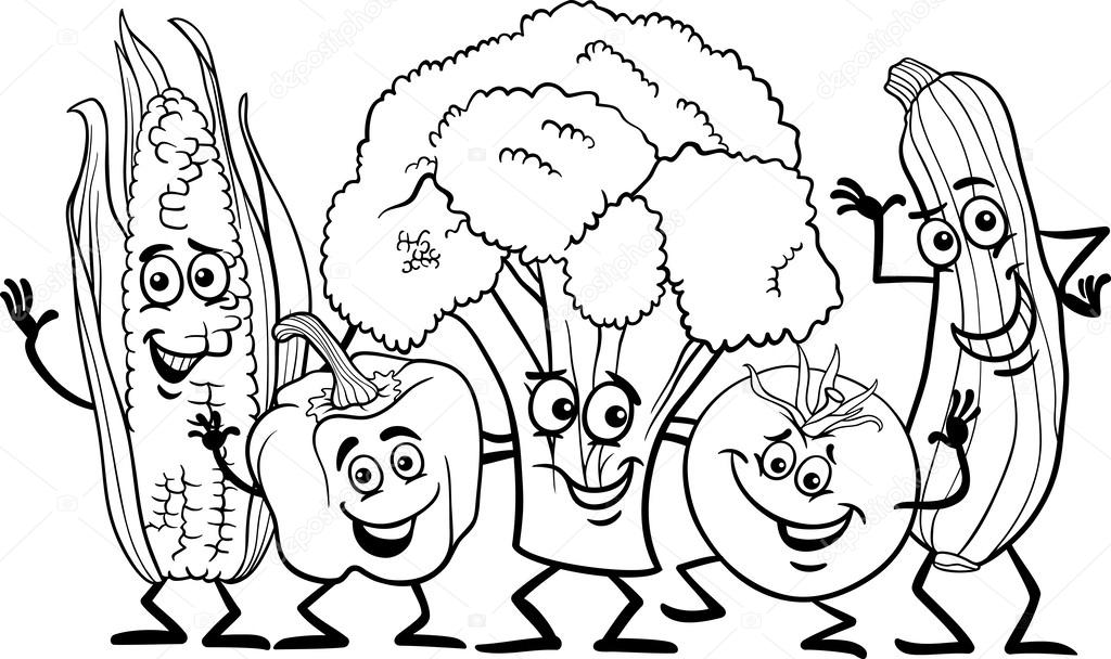 Dibujos Personajes Para Comics Cómics Verduras Para Colorear
