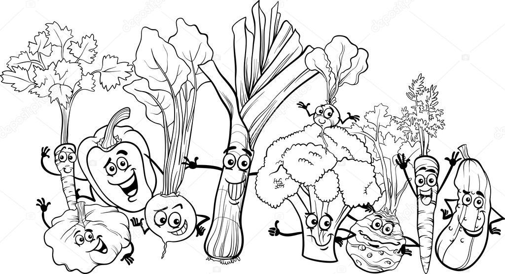 Cartoon Gemüse für Malbuch — Stockvektor © izakowski #25807213