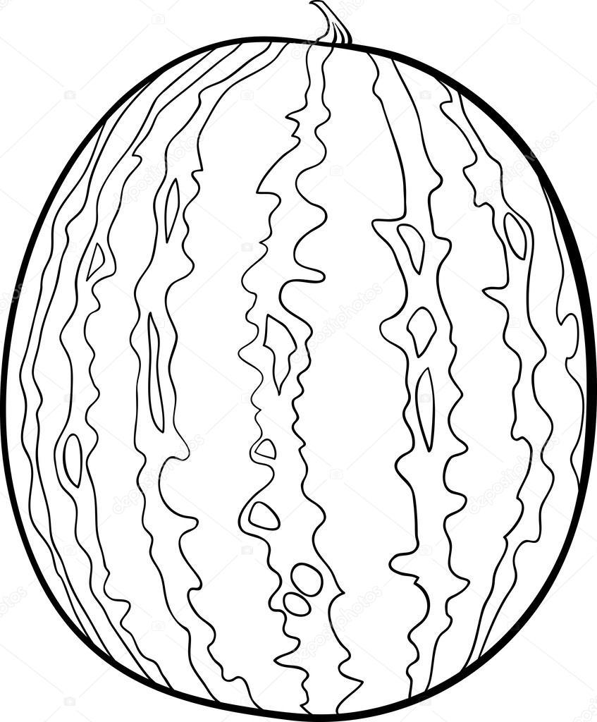 Karpuz çizim Boyama Kitabı Için Stok Vektör Izakowski 25951627