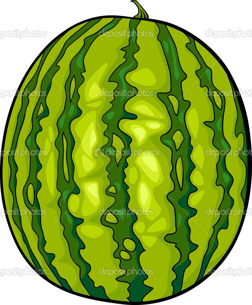 Watermelon fruit cartoon illustration — Stock Vector © izakowski ...