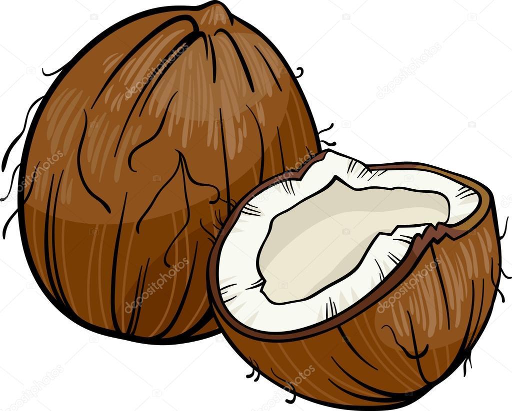 Ilustración de dibujos animados de coco — Archivo Imágenes ...