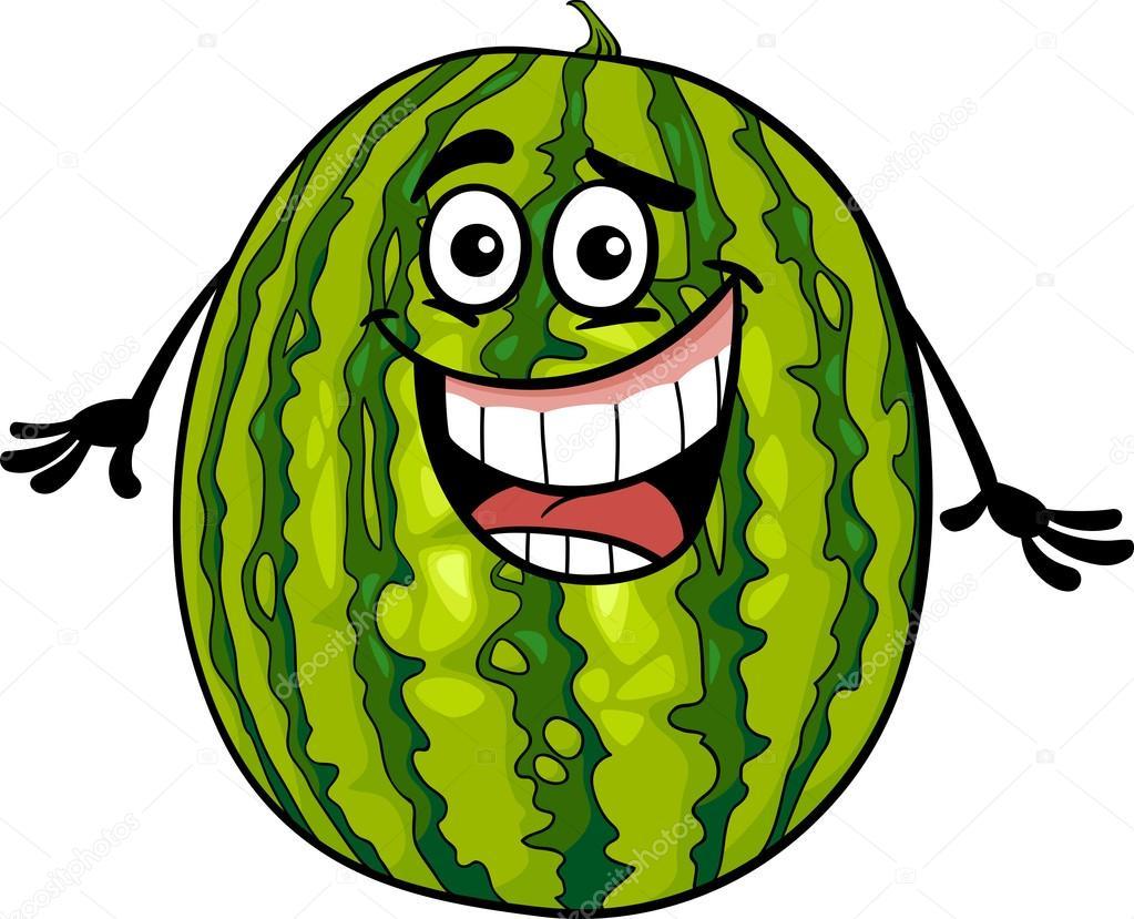 Lustige Wassermelone Obst Karikatur Illustration Stockvektor 169 Izakowski 26457083