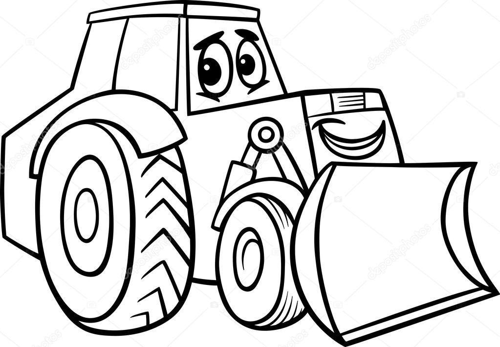 Imágenes: bulldozer para colorear | dibujos animados de la ...