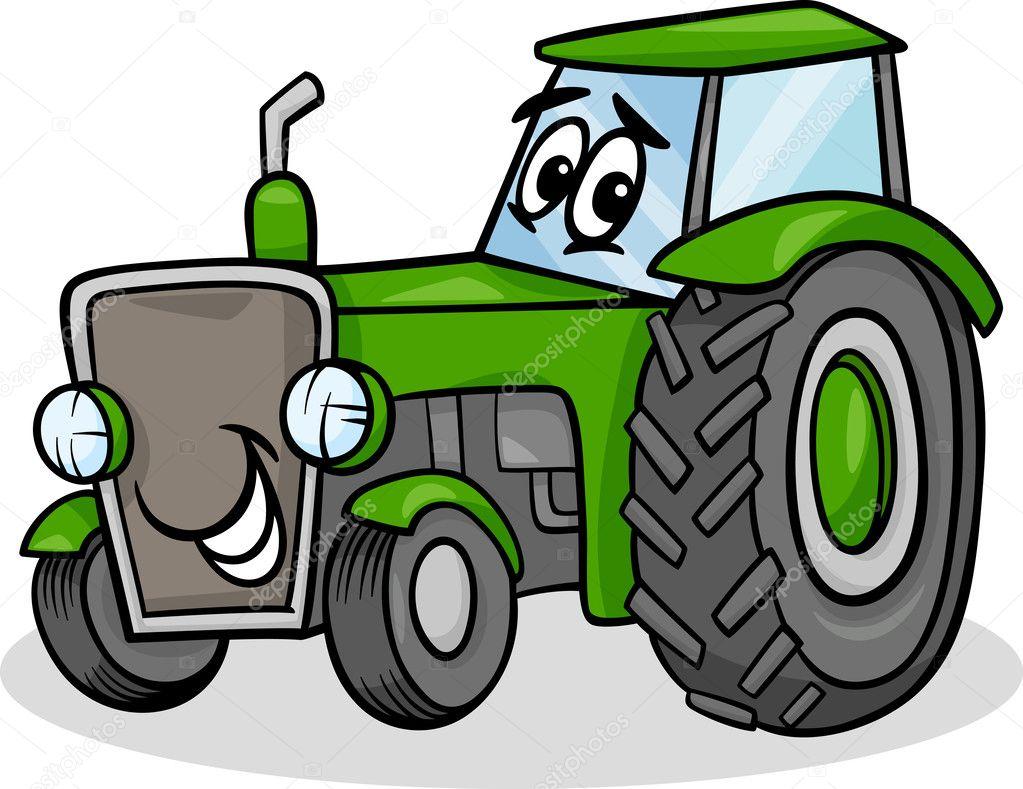 Tractor Character Cartoon Illustration Stock Vector Izakowski