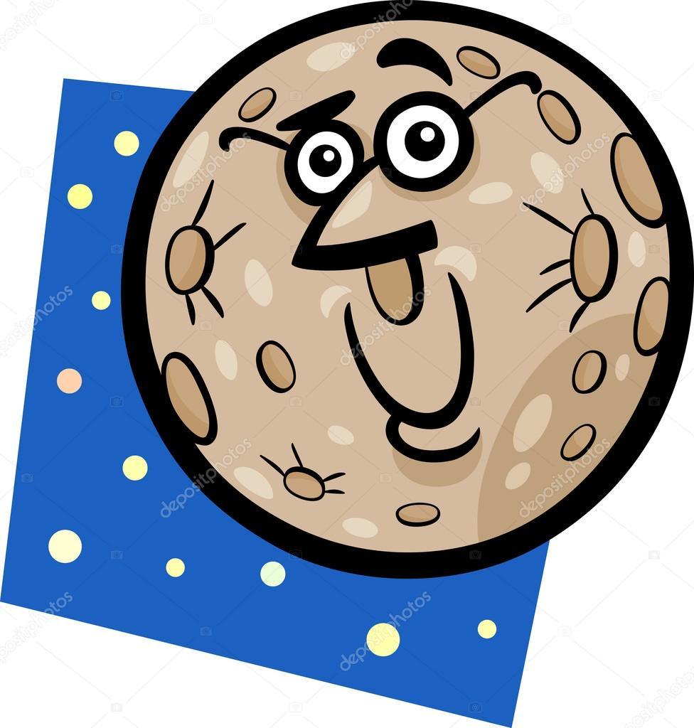 Ilustración de dibujos animados de planeta Mercurio graciosos ...