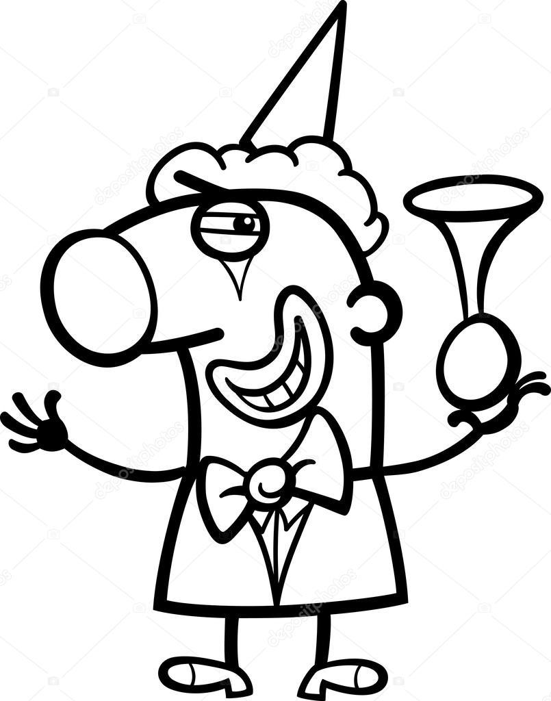 Kleurplaten Clown.Clown Cartoon Kleurplaat Stockvector C Izakowski 27638881