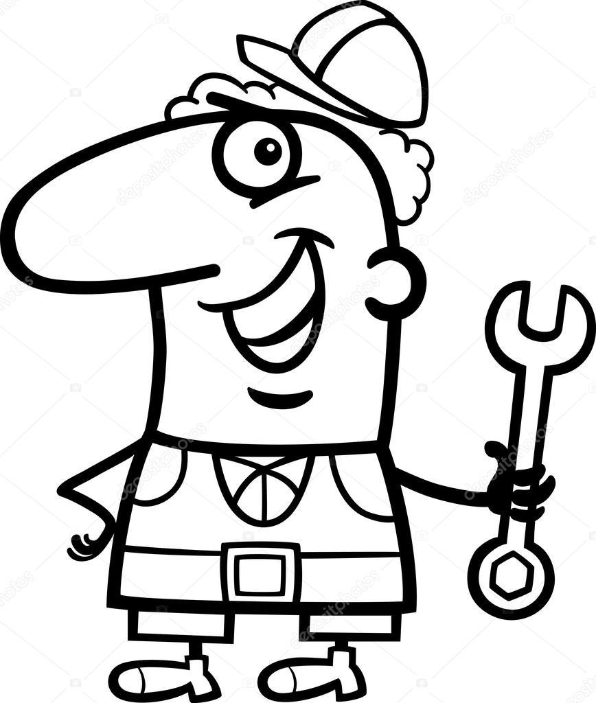 Werknemer Cartoon Kleurplaat Stockvector C Izakowski 27638923