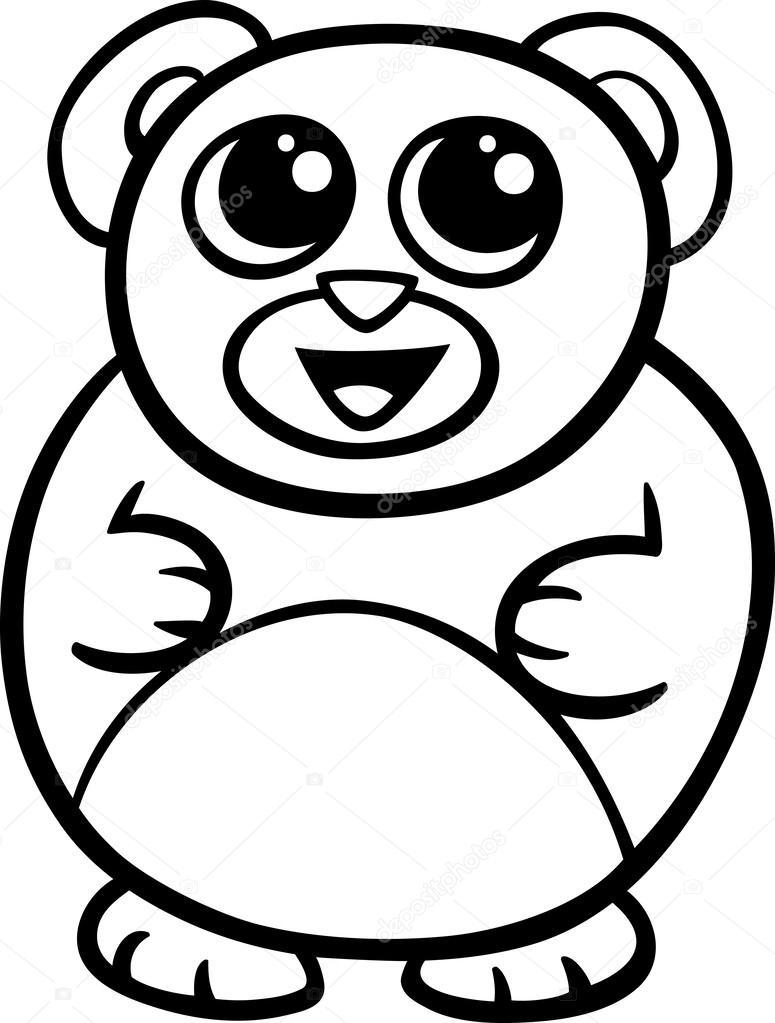 P 225 Gina Para Colorear De Dibujos Animados Kawaii Oso
