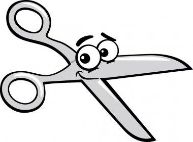 scissors clip art cartoon illustration