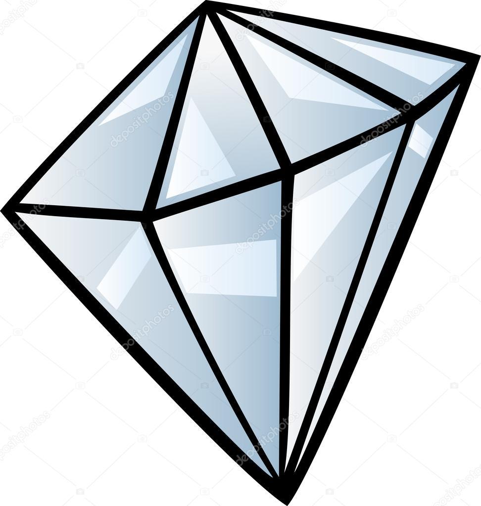 Ilustración De Diamante Clip Art Dibujos Animados Archivo Imágenes