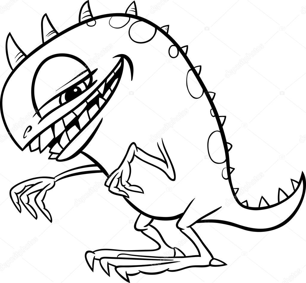 Bande dessin e illustration de monstre colorier image vectorielle izakowski 30531139 - Monstre a colorier ...