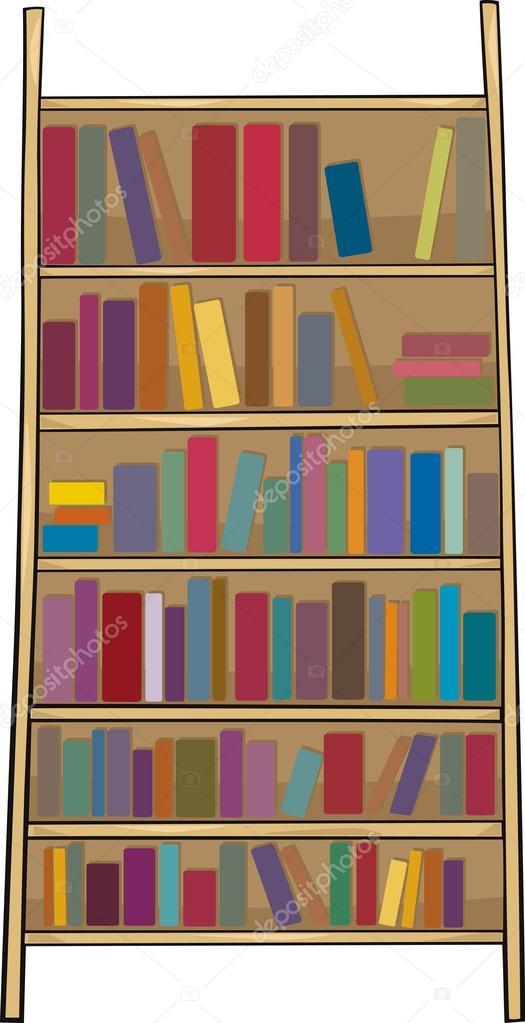 Regal Clip Art Cartoon Buchillustration — Stockvektor ...
