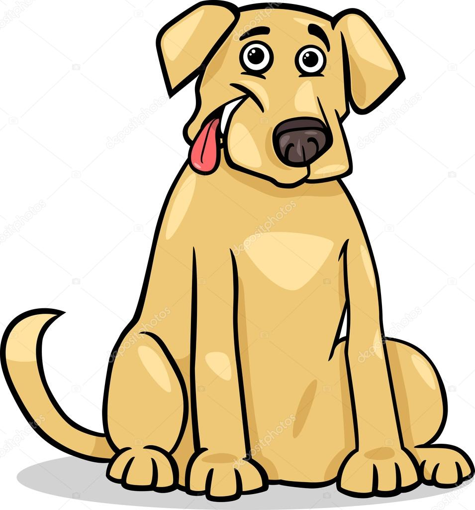 Dibujos Perros Ilustración De Dibujos Animados De Perro Labrador