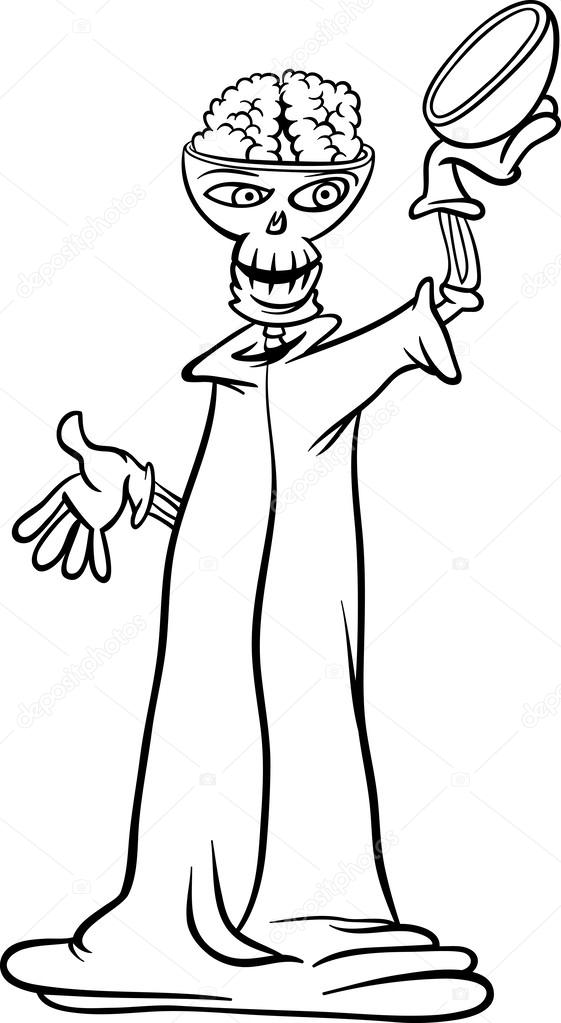 skeleton cartoon for coloring book — Stock Vector © izakowski #31789913