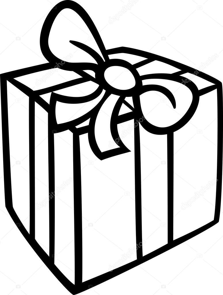 Kerst Cadeau Kleurplaat Stockvector C Izakowski 32077099
