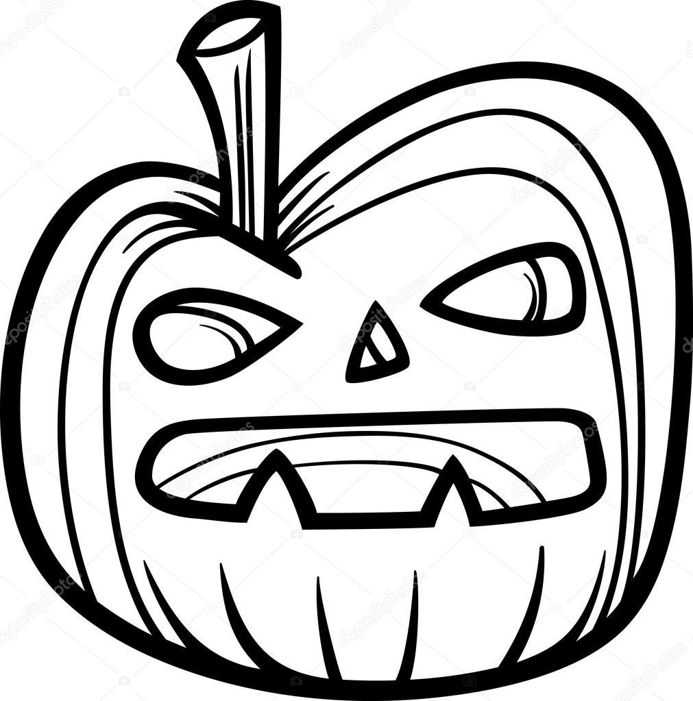 abóbora de halloween para colorir livro vetor de stock izakowski