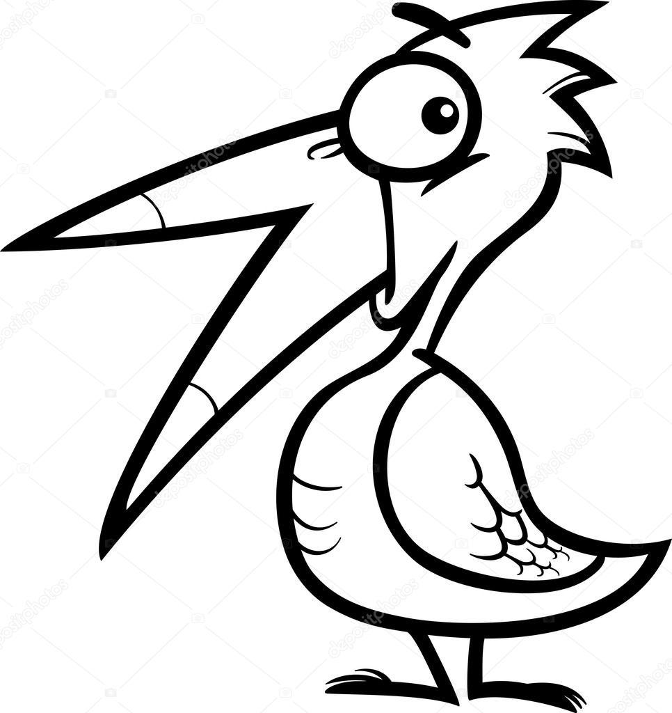 pequeña historieta de aves para colorear libro — Vector de stock ...