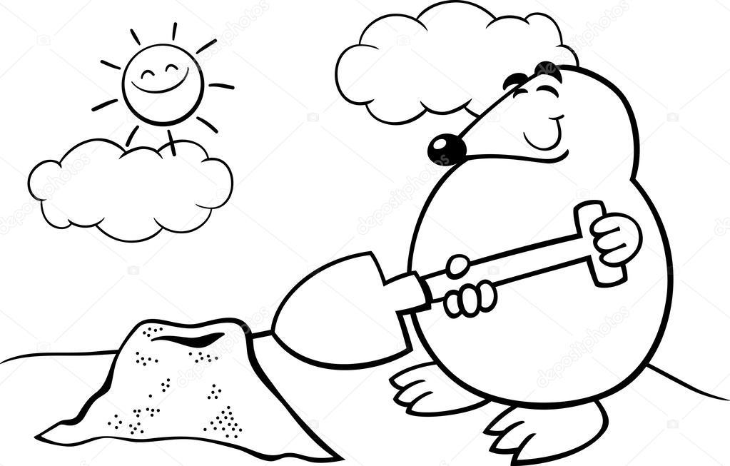 Imágenes Mole Para Colorear Página Para Colorear De Mole De