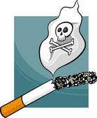 a dohányzás károsítja a rajzfilm illusztráció