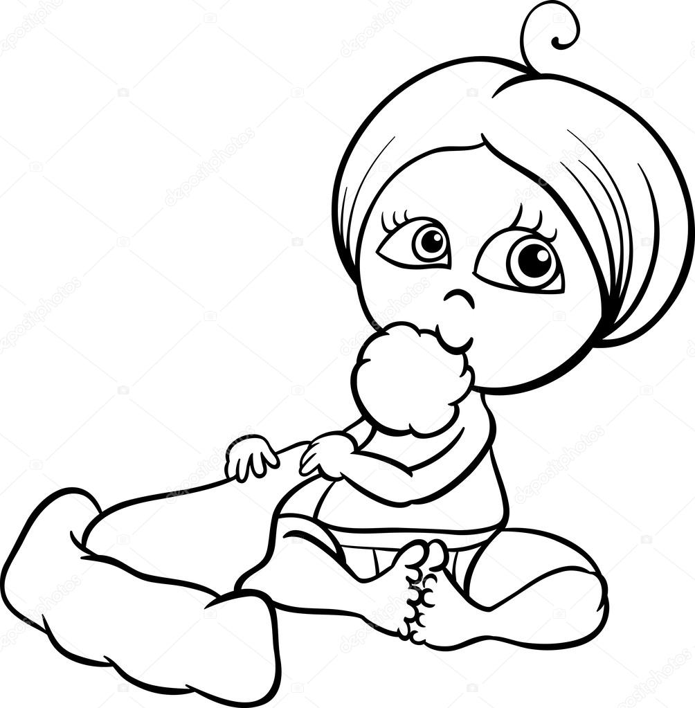 Girl & Baby Coloring Page - Free Others Coloring Pages ... | 1023x1004