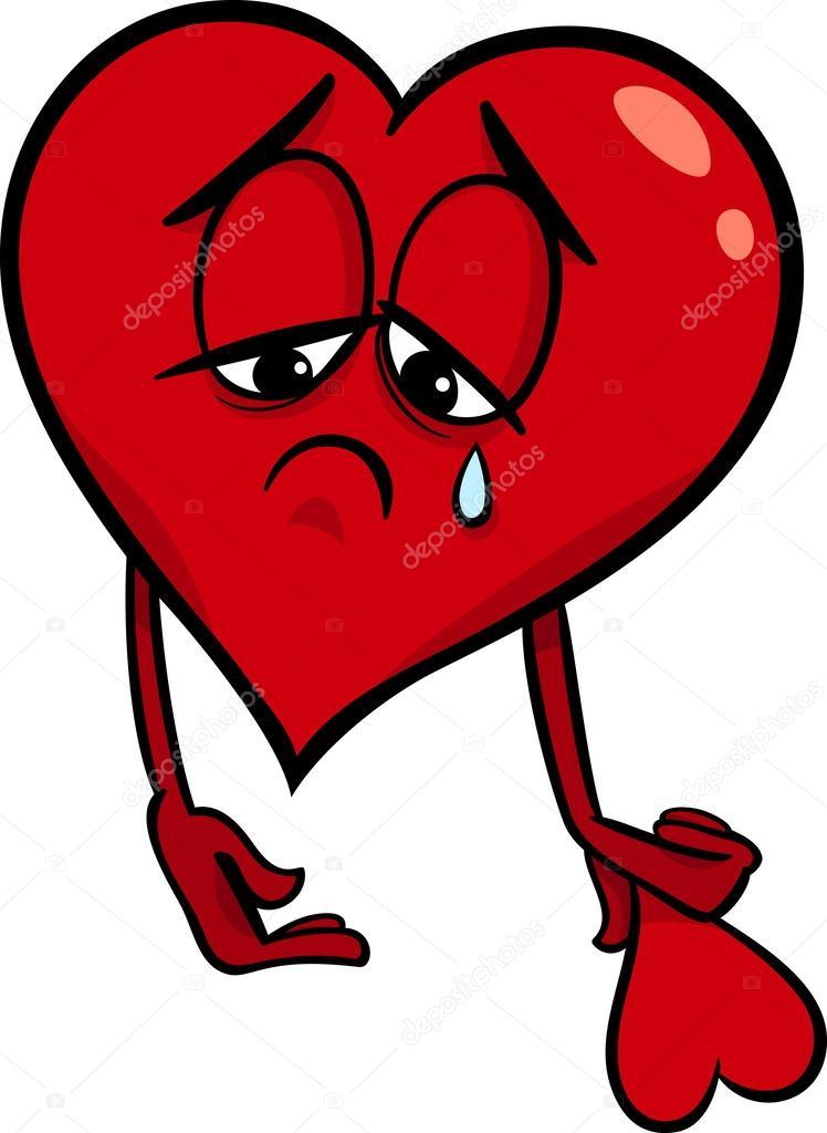 Sad Broken Heart Cartoon Illustration Stock Vector C Izakowski