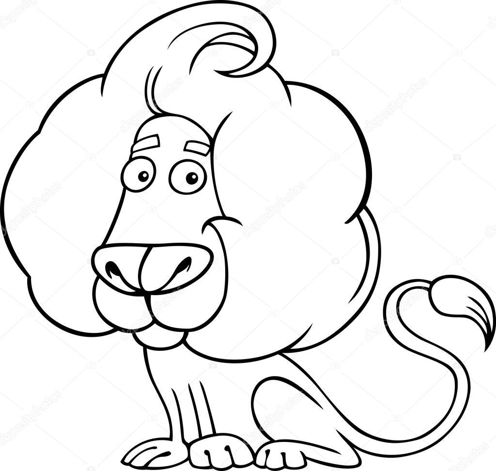 dierenriem leo of leeuw kleurplaten pagina stockvector