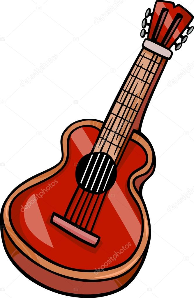 acoustic guitar cartoon clip art stock vector izakowski 38143477 rh depositphotos com  acoustic guitar images clipart