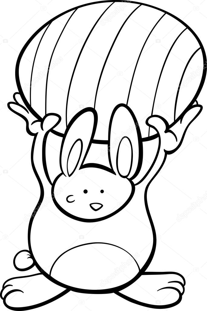Simpatico cartone animato coniglietto di pasqua colorare