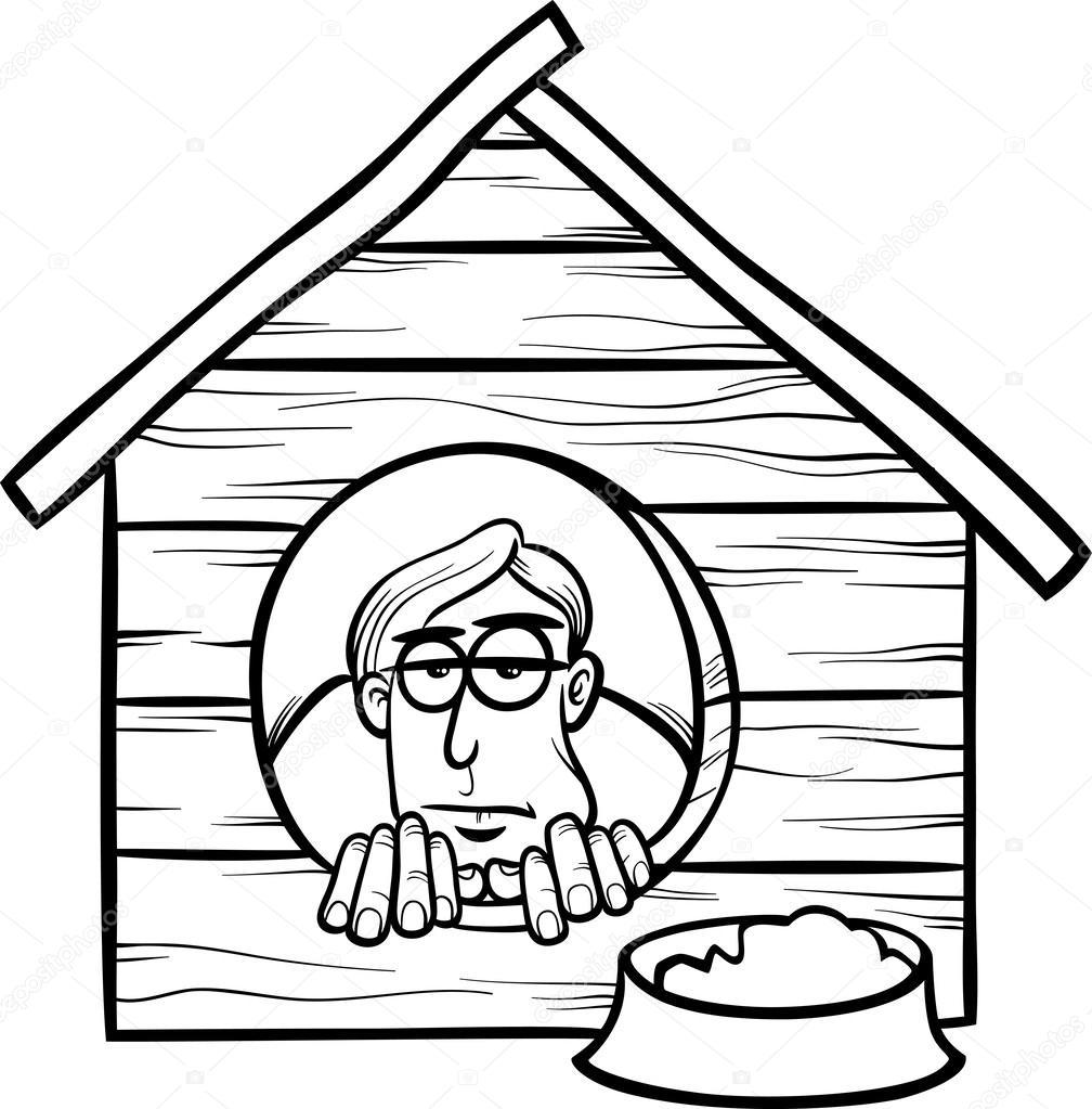 en la historieta de decir casa de perro — Vector de stock ...
