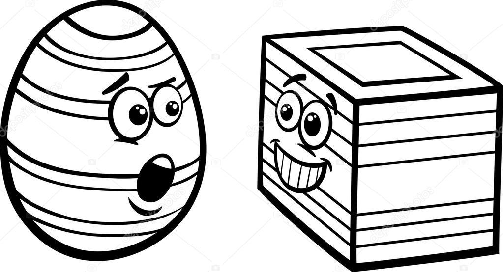 Página para colorear de Pascua huevo cuadrado — Archivo Imágenes ...