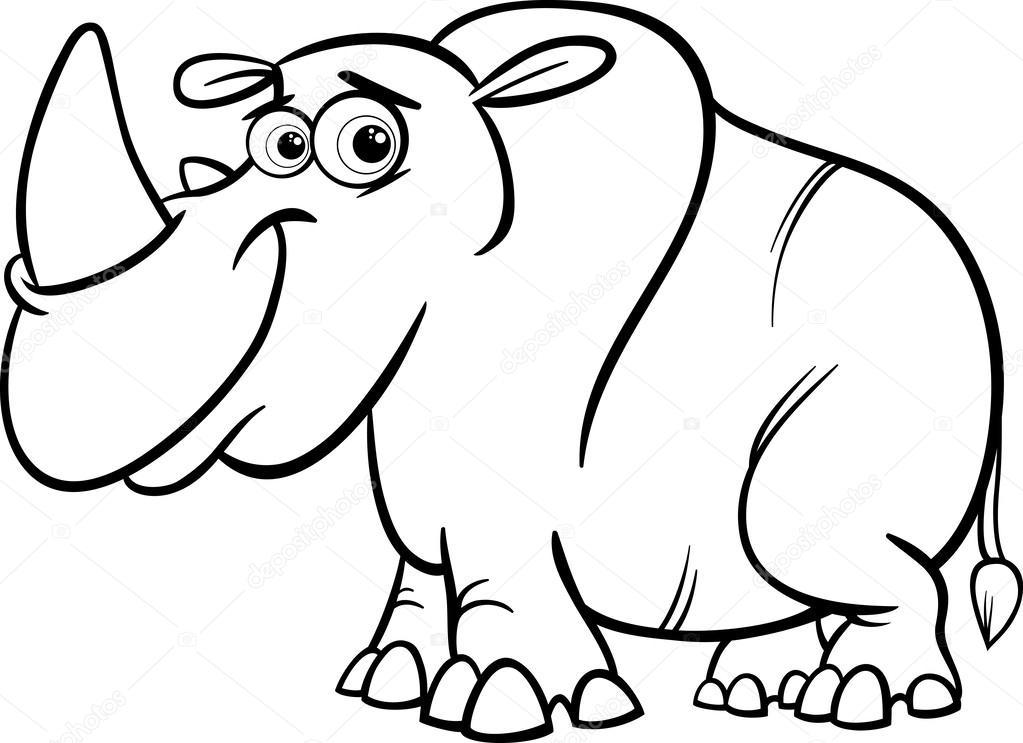 Rhinoceros rhino coloring pages - Zoo animals | 743x1023