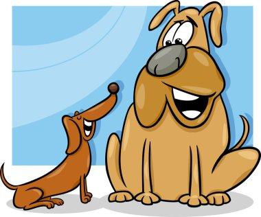 talking dogs cartoon illustration