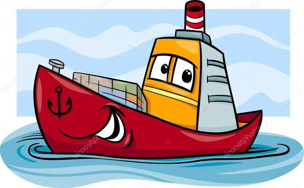 Kontejnerová loď kreslený obrázek — Stock Vektor ... Raccoon Face Clip Art