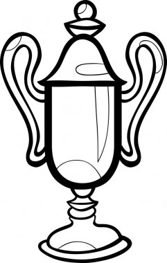 winner cup cartoon coloring page