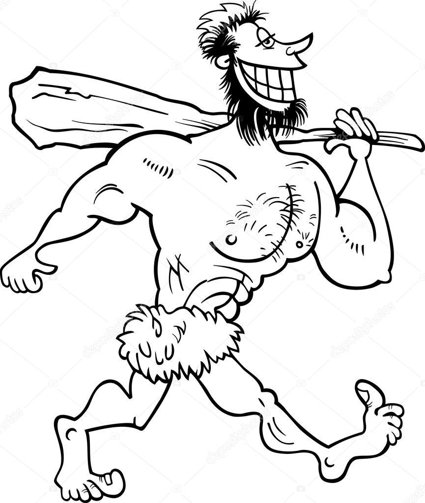 Homo Erectus Coloring Page