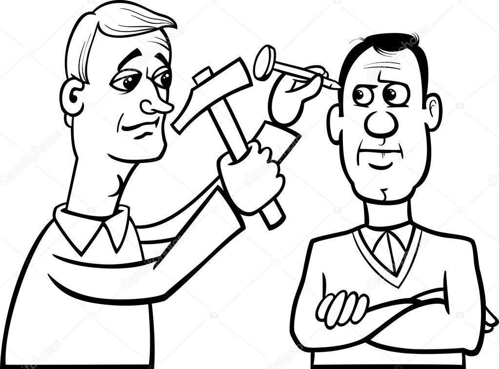 hit the nail on the head cartoon — Stock Vector © izakowski #42010769